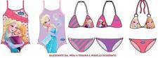FROZEN DISNEY ELSA E ANNA  costume mare intero o bikini bambina ragazza
