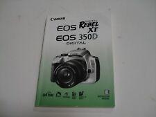 Canon EOS Rebel XT XTi XS XSi 300D 20D Camera User Manual Englsih Spanish