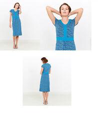 Tranquillo Kleid Biobaumwolle Organic Cotton Kaya - S18E20 blau retro swim