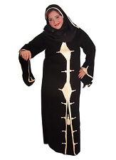 Dubai Abaya in stile islamico vestito fissa con eingenähten velo-aby00316