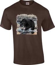 Wild Animal Wildlife Grizzly Black Bear Fishing T-Shirt
