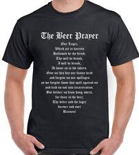 Para Hombre Divertido Camiseta-el bebedor de cerveza de oración alcohol Rugby amargo Lager pub