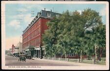 ORLANDO FL San Juan Hotel Vintage 1919 Cars Old Florida Postcard Early Town View