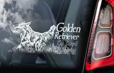 Golden Retriever on Board - Car Window Sticker - Gun Guide Dog Sign Decal - V02