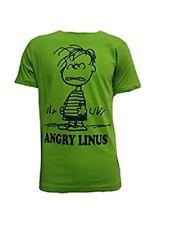t-Shirt Uomo Mezza Manica Girocollo Snoopy Art 310154 Verde Lime