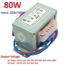 EI76 80W/VA Power Transformer 220V TO 6V 12V 18V 36V -220V Output AC Single/Dual