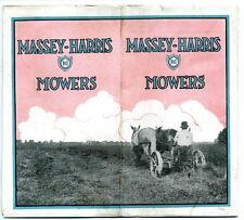 CA 1920 MASSEY-HARRIS MOWERS ADVERTISING BROCHURE