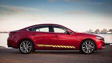 Zoom-Zoom Car Vinyl Racing Graphic Stripe Decal Sticker for Mazda Car Body Side