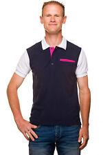 Ugholin – Polo Tricolore Coton Piqué Manches Courtes Homme