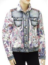 Blouson jeans DESIGUAL femme CHAQ ROSES 19SWED31 fleurs coloris 5058