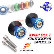 6Color CNC Swingarm Spools 10MM 2pcs For Kawasaki ZX6R/ZX6RR/636 06-12 08 09 10