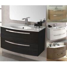 Mobile arredo bagno 74 o 100 lavabo cristallo ceramica mineralmarmo 5 colori  84