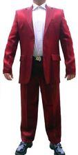 Designer Herren Anzug Glanz Rot Slim Fit Herrenanzug Glanzanzug Sakko und Hose