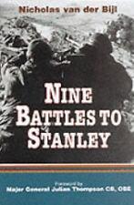 NINE BATTLES TO STANLEY - British army in Falklands Nicholas Bijl   1st  HB/dj.