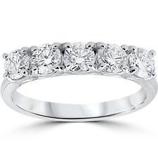 1 1/4 ct 5-Stone Diamond Trellis Anniversary Ring 14k White Gold