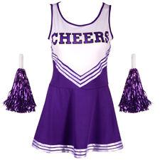 Lila Cheerleader Uniform Kostüm Cheerleading Cheer Leader Gr.S-XL GOGO Karneval