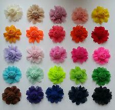 Rose bud chiffon fabric flower   🌹🌸  UK SELLER, QUALITY PRODUCTS