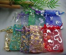 10 Organzabeutel Organzasäckchen 9 x 7 cm verschiedene Motive zur Auswahl