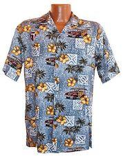 Classic Rayon Hawaiian Woodie Cocktail Aloha Shirt