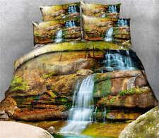 Deep Heavy Waterfall 3D Printing Duvet Quilt Doona Cover Pillow Case Bedding Set