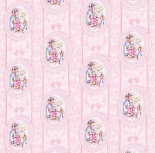 Papier peint maison de poupées 1/12 1 / 24ième échelle pépinière du papier de qualité rose # 133