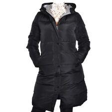 Daunen Wintermantel Kapuze Schwarz Mantel Lang Jacke Steppmantel S M L XL XXL