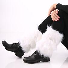 Fellstulpen Faschings Stulpen Legwarmes Ideal für Stiefel und Stiefeletten