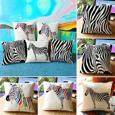 Throw Pillow Case Sofa Waist Cushion Cover Zebra Print Pillowcase Home Amusing