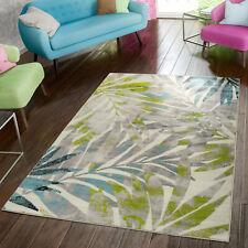 Teppich Modern Preiswert Wohnzimmer Teppiche Palmen Style In Grau Grün Blau