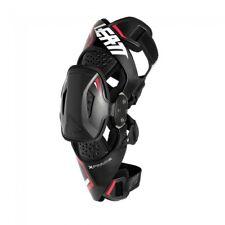New Adult Pair Leatt X-Frame Knee Brace Knee Guard Black Red Motocross Enduro