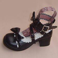 schwarz black lolita gothic Shoes Schuhe Stöckel goth abendkleid stiefel damen