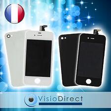Vitre tactile ecran LCD sur chassis pour iPhone 4S noir/blanc + vitre arrière