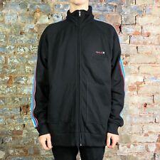 Hurley Marseille Zip Up Track Fleece Jacket Brand New in Black in size L