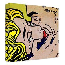 Lichtenstein Kiss Canvas | LARGE WALL ART | plane roy comic halftone