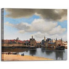 Vermeer vista su Delft design quadro stampa tela dipinto telaio arredo casa