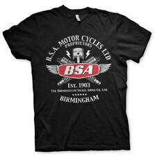 BSA Vintage Motorcycles Birmingham Motorbike Official Tee T-Shirt Mens Unisex