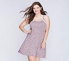 Lane Bryant Cacique Marled Chemise w Lace Inserts Sleepwear Plus Size 18/20 2X