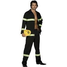 Sexy Fireman Firefighter Uniform Emergency Adults Mens Fancy Dress Costume