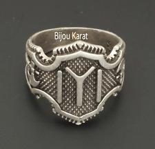 Kayi Boyu Ertugrul Dirilis Herren Erkek Silber Ring Selcuklu Bozkurt Göktürk