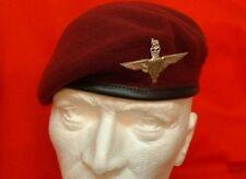 Parachute Regiment Beret PARA Badge + PARA Metal Badge Airborne Maroon Beret