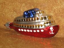Christmas Tree Ornament Poland Glass Cruise Ship Boat