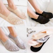 Women Cotton Lace Flower Antiskid Invisible Liner Summer Short Low Cut Socks Hot