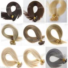 8A 16-26Inch U Nail Tip Fusion Keratin Remy Hair Extensions Human Hair Full Head