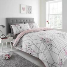 Seersucker Saskia Duvet Cover Pillow Case Pink Bedding Set Single Double King