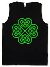 ST PATRICK/'S DAY SHAMROCK VEST SEQUIN IRISH 4 LEAF CLOVER UNISEX PARADE XL