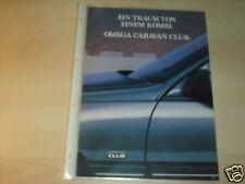11998) Opel Omega Caravan Club Schweiz Prospekt 1990