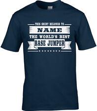 Base Jumper Mens montaña salto Personalizado Camiseta Extreme Sport Regalo Divertido