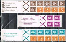 Nederland Postzegelboekjes 17a, 18b, 19b mooie set (8) postkantoorprijs