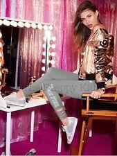 NWT Victoria's Secret PINK Fashion Show Rose/Gold Bomber Jacket 2016 Runway