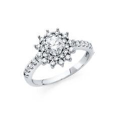 1 Ct Round Diamond Engagement Wedding Ring 14k Solid White Gold